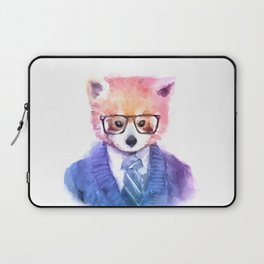 Cute fashion hipster animals pets red panda Laptop Sleeve