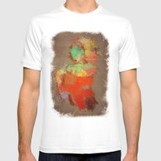 Shapaint White MEDIUM Mens Fitted Tee