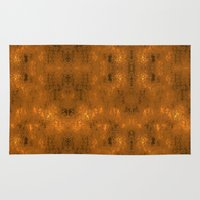 gold foil Area & Throw Rugs featuring Gold Foil 10 by Robin Curtiss