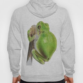 Plump Green Tree Frog Hoody