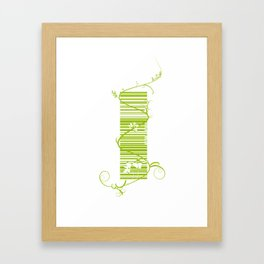 Barcode & Swirls Framed Art Print