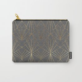 Art Deco in Gold & Grey Carry-All Pouch