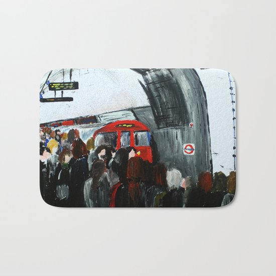 London Underground Part 3, England Acrylic On Canvas Board Fine Art Bath Mat