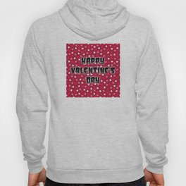 Happy Valentine's Day with Colored Hearts Hoody