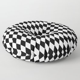 Jester Black and White Floor Pillow