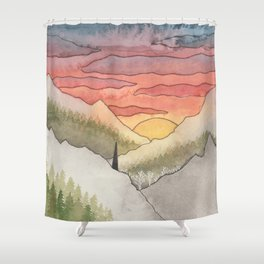 Rusty Light on the Pines Shower Curtain