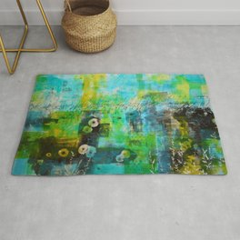 Abstract Blue in the Breeze Rug