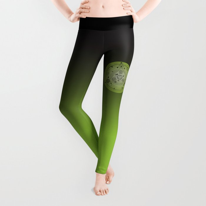 Green geometric shapes Leggings