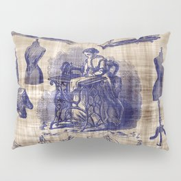 Vintage Sewing Toile Pillow Sham