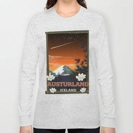 Austurland iceland travel poster Long Sleeve T-shirt