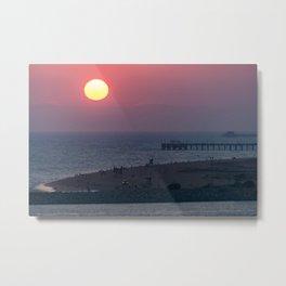 Sunset Over the Newport Peninsula Metal Print