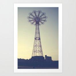 Coney Island Carnival Ride Art Print