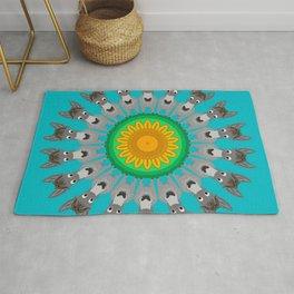 Delightful Donkey Mandala Design Rug