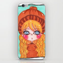 kawaii girl iPhone Skin