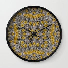 Gelbe Flechten 1 Wall Clock