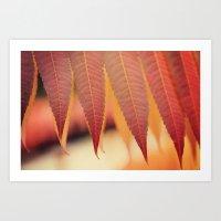 Fiery Fall Art Print