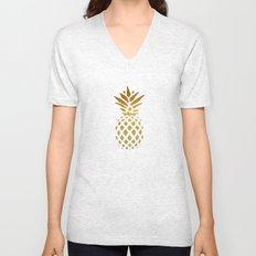 Golden Pineapple Unisex V-Neck