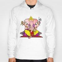 hindu Hoodies featuring Hindu god by American Artist