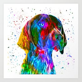 German Shorthaired Pointer Low Poly Art Print
