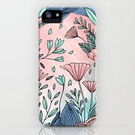 Ocean of Flowers iPhone Case