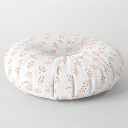 Orange Queen Anne's Lace pattern Floor Pillow