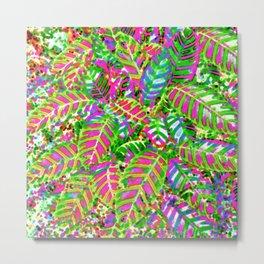 Leaves in Dappled Light Metal Print