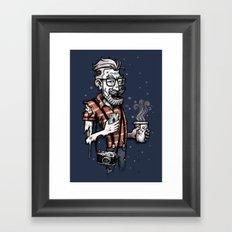 Zomb Hipster Framed Art Print