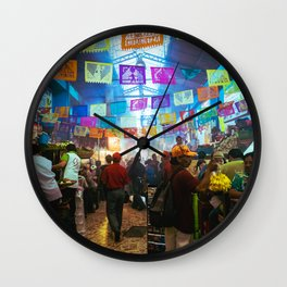 Mexican Market Wall Clock