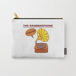 The Grammarphone - Funny Gramophone Wordplay Carry-All Pouch