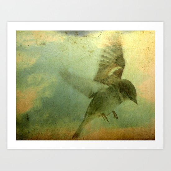 Old sky Art Print