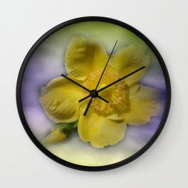 yellow summerfeeling Wall Clock