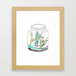 Narwhal in a jar Framed Art Print