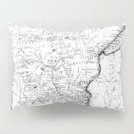 Vintage Map of Minnesota (1864) BW Pillow Sham