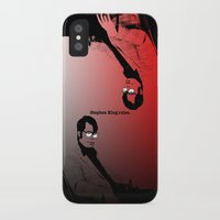 stephen king iPhone & iPod Cases featuring Stephen King Rules by Hazel Bellhop