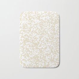 Small Spots - White and Pearl Brown Bath Mat