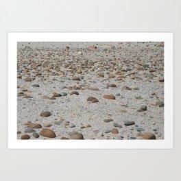 Stones on the Beach Art Print