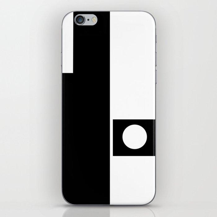 Minimal Black and White iPhone Skin