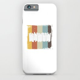Music Musicians Funny Pianist Musical Gift Retro Vintage Keyboard iPhone Case