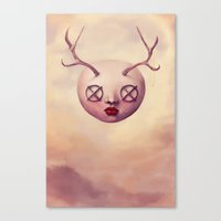 emoji Canvas Prints featuring EMOJI 5 by Ryan Laing