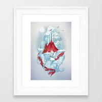 ice Framed Art Prints featuring ice  by Tanya_tk