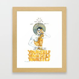 the divine voice within answers Framed Art Print