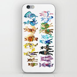 Eeveelutuions Complete Artwork iPhone Skin
