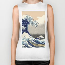 The Great Wave Biker Tank