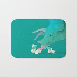 Triceratops Hugs by Ballsy Creative Bath Mat