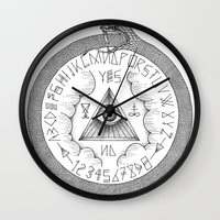 ouija Wall Clocks featuring Ouija by oracularcoven