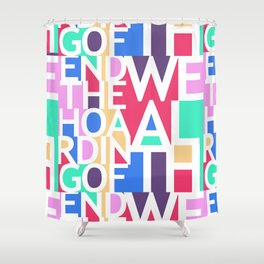 End the Hoarding of Wealth Shower Curtain