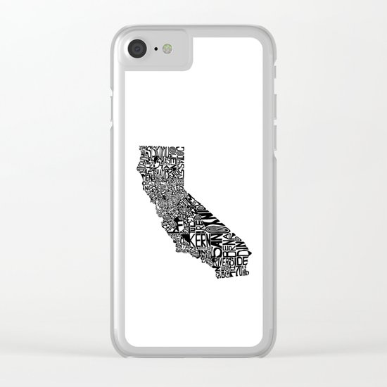 Typographic California Clear iPhone Case