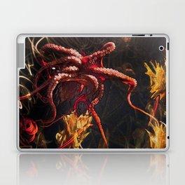 Blooming Crimson Octopus Laptop & iPad Skin