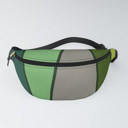 Green Abstract Pattern Turtle Fanny Pack