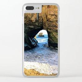 Santa Cruz CA Ocean Tunnel Clear iPhone Case